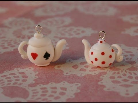 Alice in Wonderland inspired polymer clay teapots tutorial