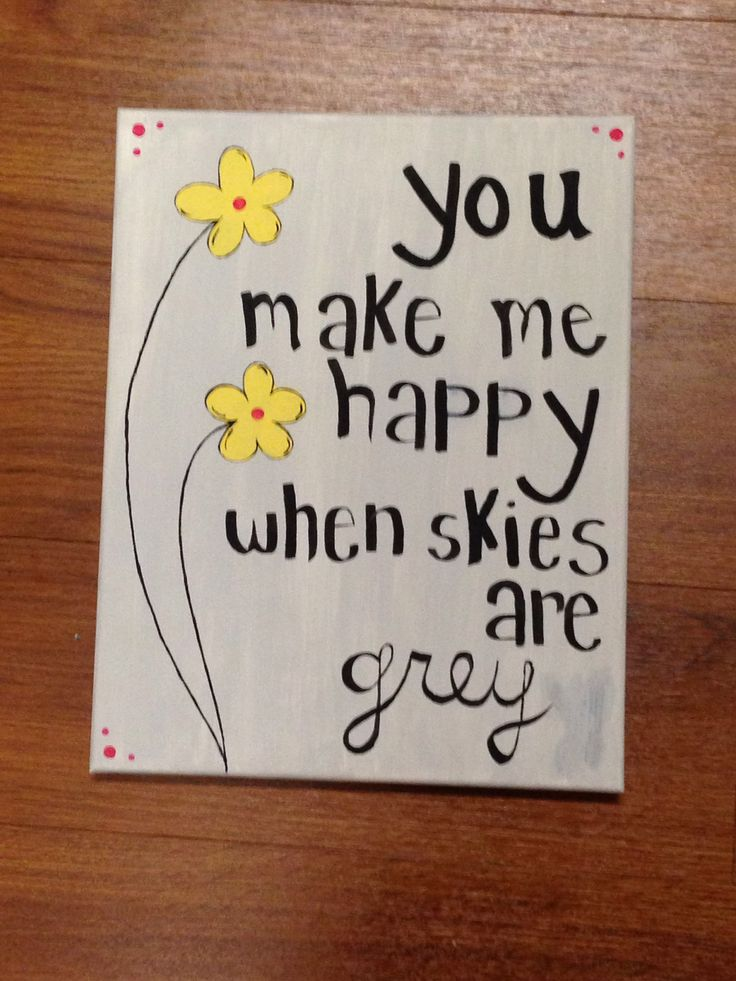 Cute canvas idea
