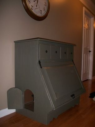 Hidden Kitty Litter Box Furniture W/storage. Discovered On Imgfave.com