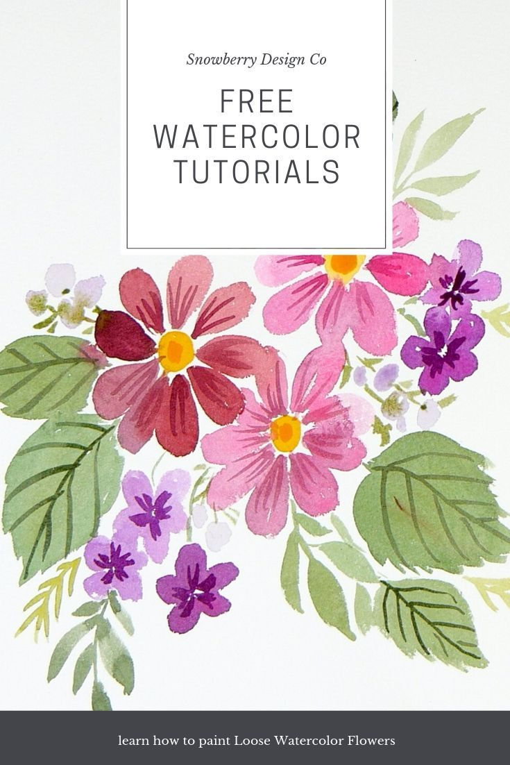 Hundreds Of Free Loose Watercolor Tutorials On The Snowberry