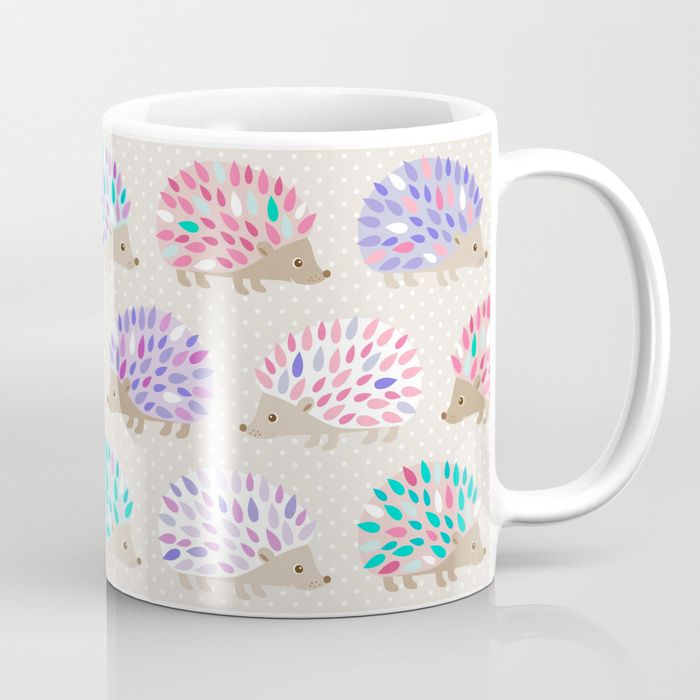 Buy Hedgehog polkadot Coffee Mug by heleenvanbuul. Worldwide shipping available at Society6.com. Just one of millions of high quality products available.