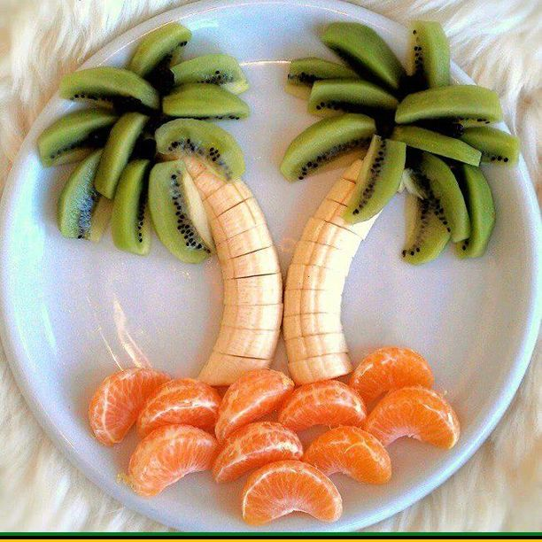 Palm trees kids snacks