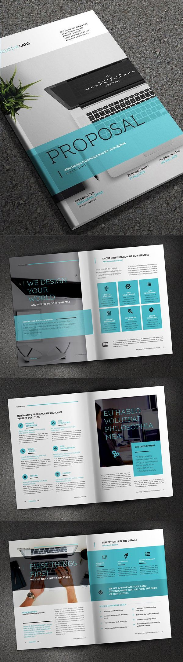 Professional Business Proposal Templates Design 24