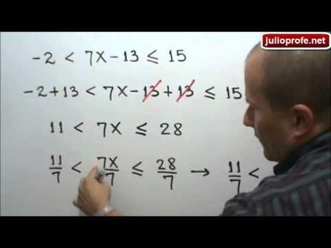Desigualdad lineal con tres componentes: Julio Rios explica cómo solucionar una desigualdad lineal con tres componentes.