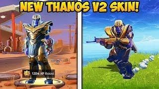 Playing As New Thanos V2 Skin Fortnite Funny Fails And Wtf