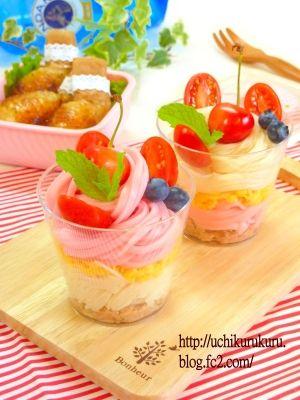 ★七夕パフェ素麺:*:・゚☆。:*パーティーにも♪ レシピ・作り方