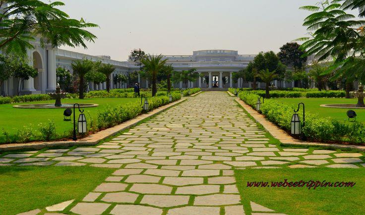 Hyderabad - Taj Falaknuma Palace inner courtyard