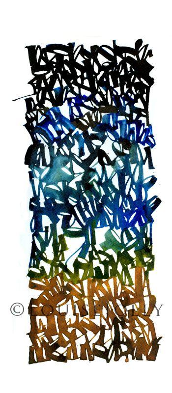 """""""Nightfall"""", detail, 2013      Pour le 1er janvier, Christopher Haanes , un de mes contacts calligraphe sur FB a posté un  poème d'Octavi..."""
