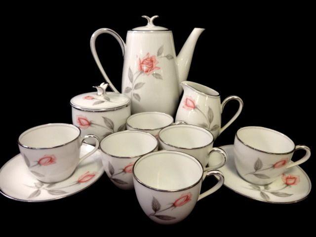Noritake Rosemarie Demitasse Tea Set - 13 Pieces