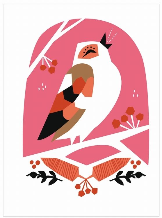 Greeting #card #bird by Darling Clementine from www.kidsdinge.com https://www.facebook.com/pages/kidsdingecom-Origineel-speelgoed-hebbedingen-voor-hippe-kids/160122710686387?sk=wall
