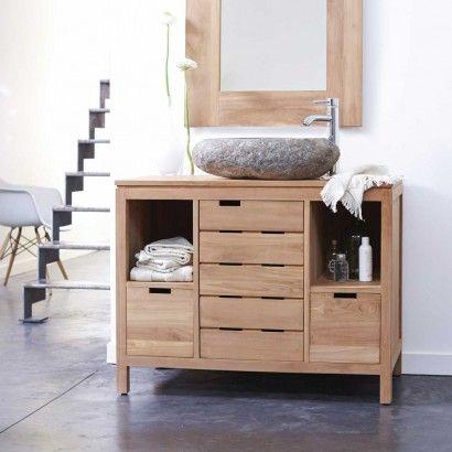 Meuble salle de bain en teck serena solo salle de bain - Meuble salle de bain teck design ...