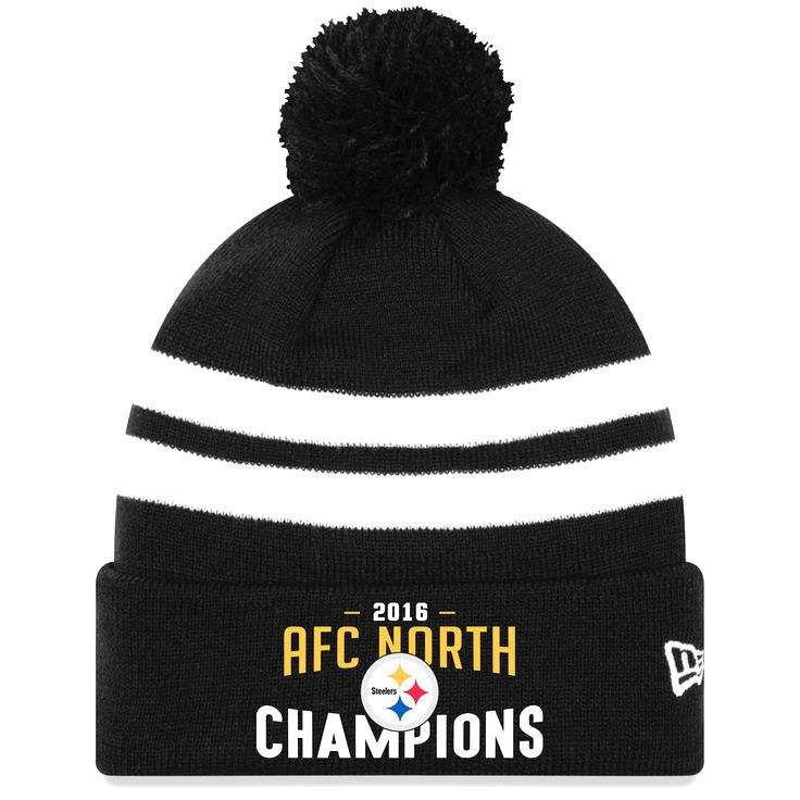 Pittsburgh Steelers New Era 2016 AFC North Division Champions Cuffed Knit Hat - Black - $21.99
