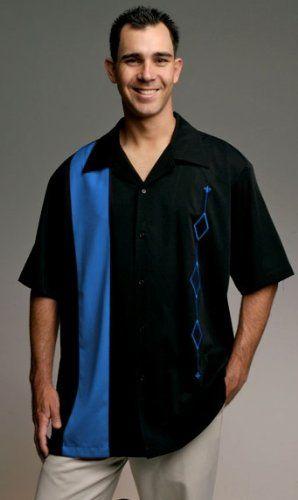 Mens retro bowling shirt big tall sizes for Mens 2xl tall shirts