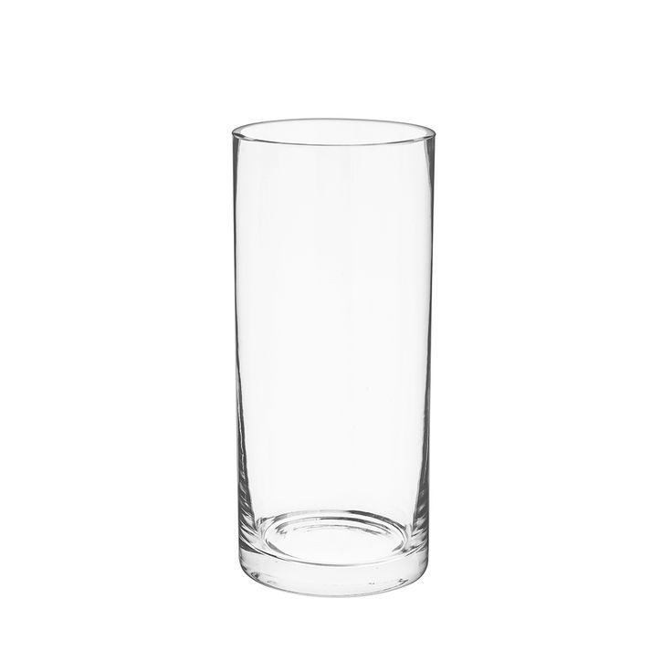 Florero de vidrio.
