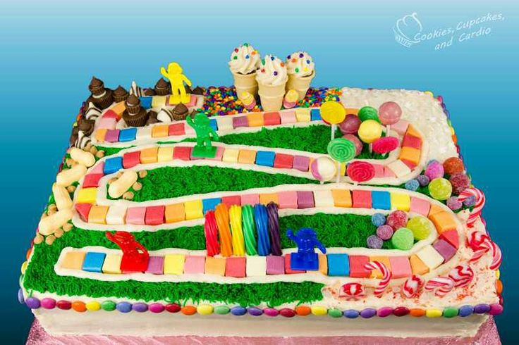Candy Land sheet cake