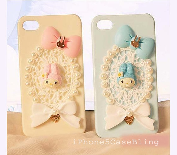 iPhone case, iPhone 5 Case, iPhone 4 Case, iPhone 4s Case, Lace iphone 5 case, Lace iPhone 4 case, Cute iPhone 4 case, iPhone 4 case bow by iPhone5CaseBling, $12.98