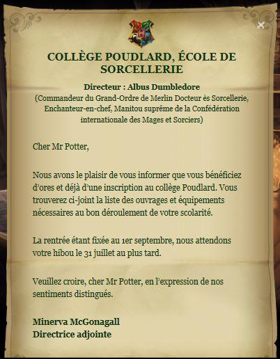 Catégorie:Galerie Lettre d'admission à Poudlard - Wiki Harry Potter - Wikia