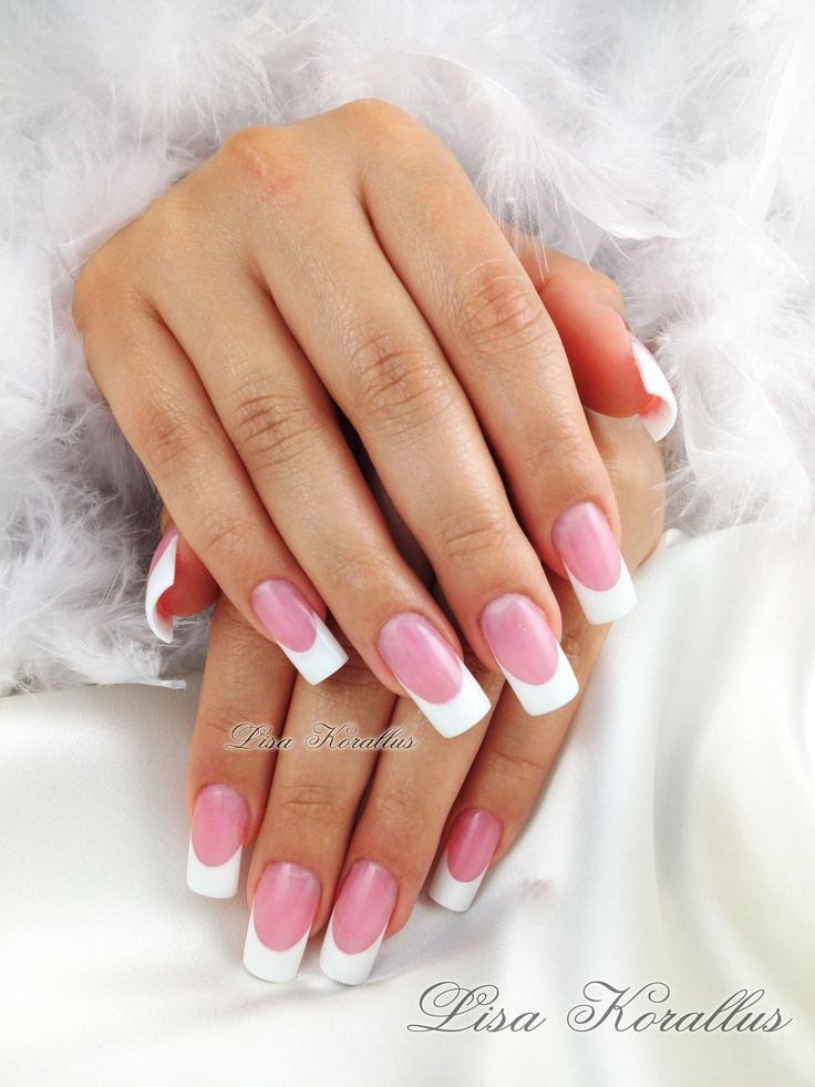 Sculpted Pink And White Gel Enhancement Pinkandwhites