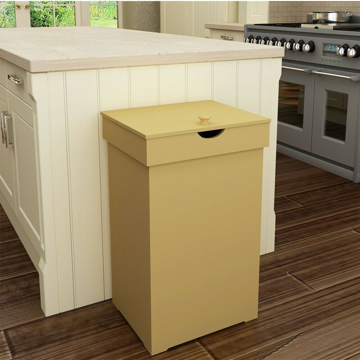 9 Ways To Disguise Your Trash Bin Trash Can Cabinet Kitchen Trash Cans Decorative Storage Baskets