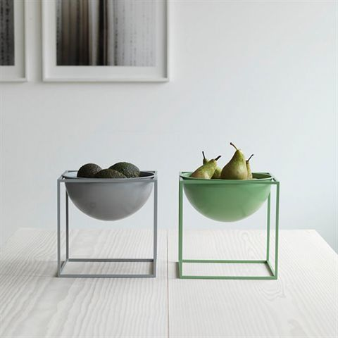 Kubus Bowl large, cool grey - by Lassen