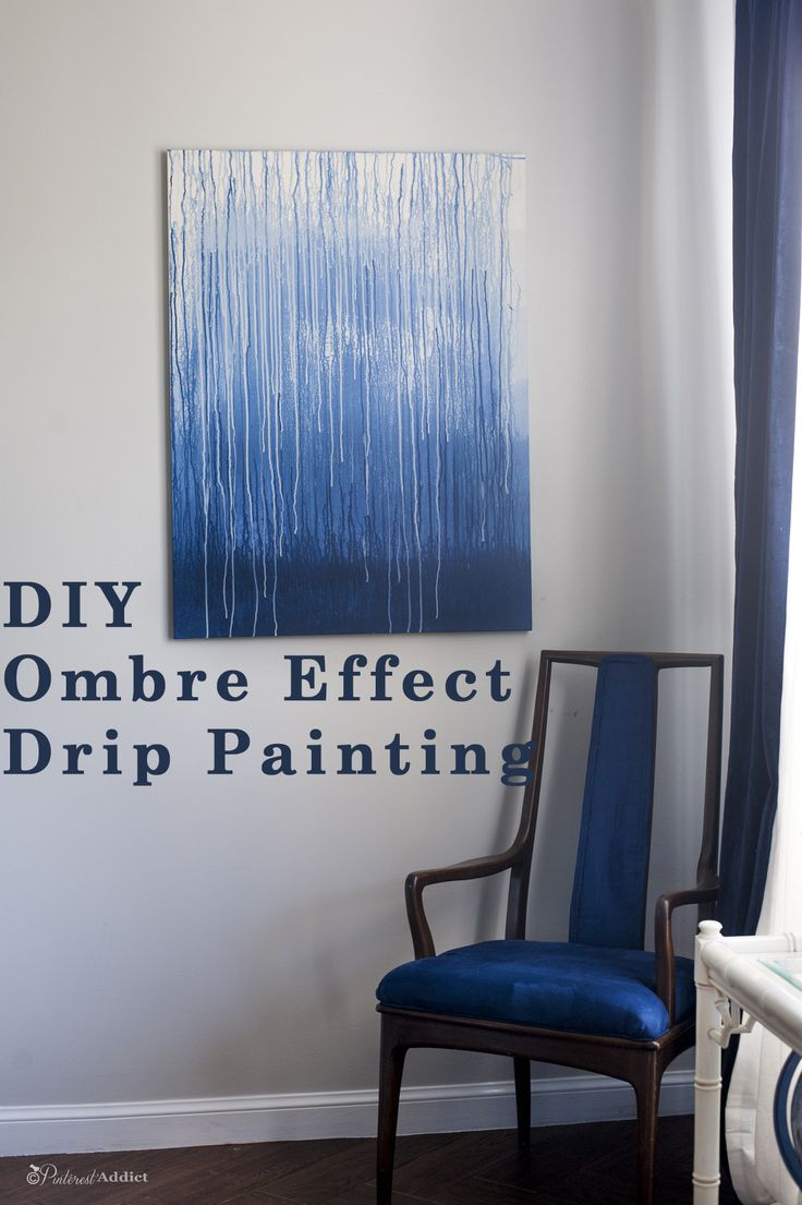 This DIY art ombre drip painting project is so easy, anyone can do it. Using leftover paints and a new canvas, it's a great way to add color to any room.