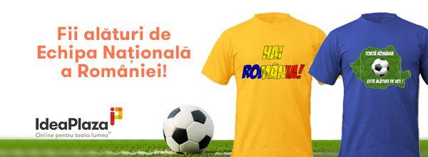 #Tricouri create special pentru toti suporterii nationalei de #fotbal. Hai #Romania! ---- http://goo.gl/gYdPpD
