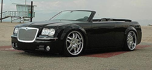 2006 chrysler 300c convertible with mesh bentley style grille by t rex chrysler 300c. Black Bedroom Furniture Sets. Home Design Ideas