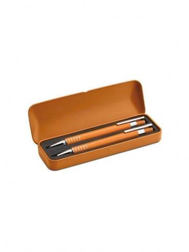 Set pix şi creion mecanic în cutie de aluminiu. Cod produs: 14-MO7323.