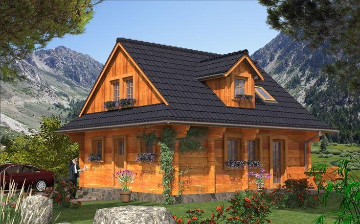 DOM.PL™ - Projekt domu MD L-44 bale CE - DOM MD1-45 - gotowy projekt domu