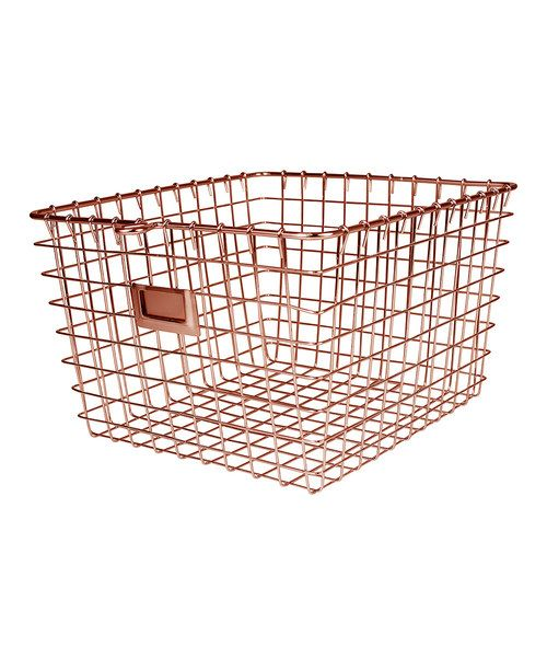 Look at this Copper Large Storage Basket on #zulily today!