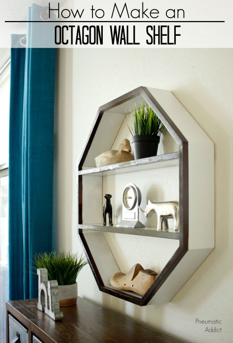 How To Build An Octagon Shaped Wall Shelf With This Simple Tutorial And Building Plans THDProSpective