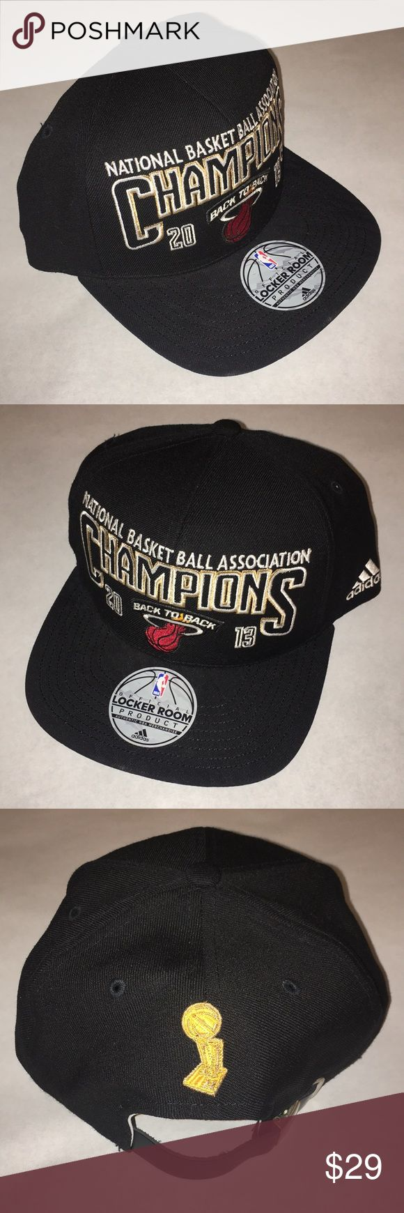 ADIDAS NBA Champions 2013 The Finals Back To Back Adjustable leather strap. adidas Accessories Hats