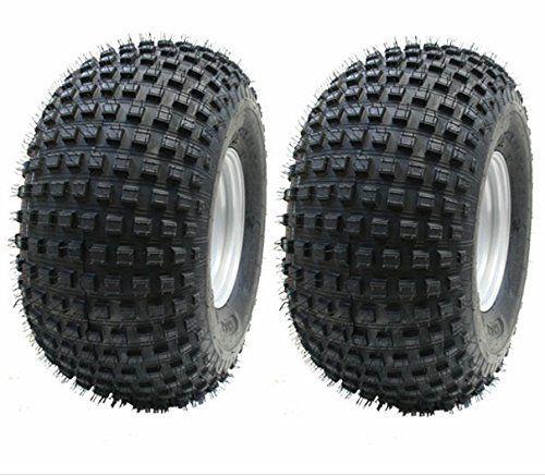 ATV P323 Kit de roues pour remorque avec moyeu/essieu + attelage Pneus Wanda Knobby 22x11,00-8 à 4 plis 310kg: * Kit * Deux–22x 11-8…