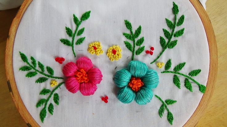 Hand Embroidery: Puffed Satin Stitch Mais