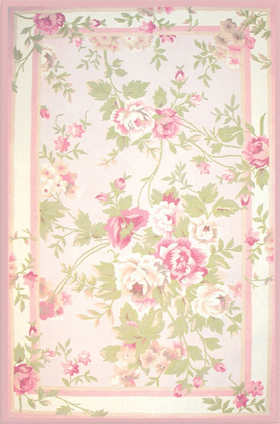The Rug Market Habitat Antoinette 11606 Pink And Sage Area