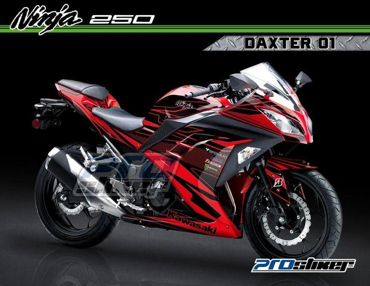 Decal Kawasaki Ninja 250 FI Warna Merah Motif Daxter Merah 01