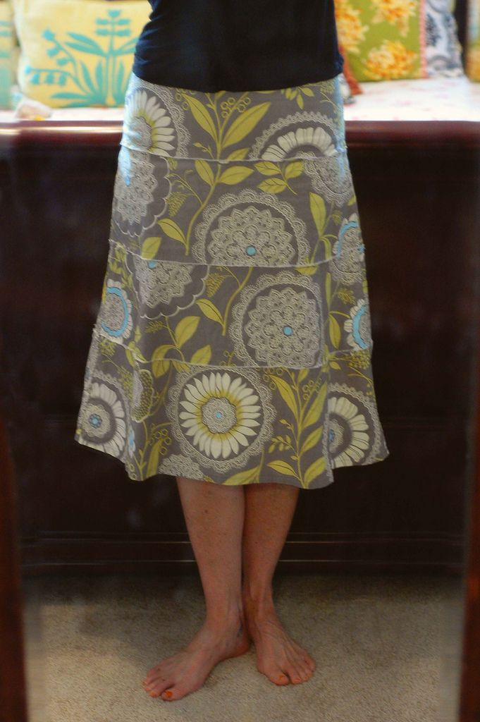 https://flic.kr/p/6RD3FC | Amy Butler Barcelona skirt | I love, love, love this pattern.  It fits me so perfectly.  I have made three skirts so far from it.