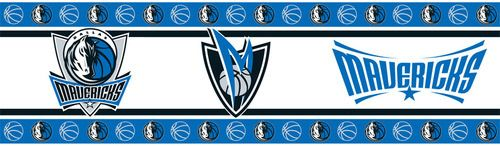 These sports decor wall paper borders are the perfect way to add some sports flair to your kids room!   Purchase here: http://www.mysportsdecor.com/dallas-mavericks-wallpaper-border.html  #sportswallpaper #kidsroomdecor #kidsroomideas #kidssportsdecor