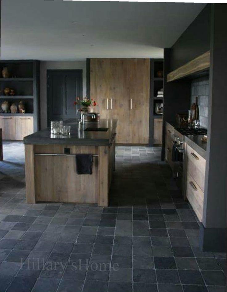 Mooie keuken maar de combi met de vloer iets te donker..