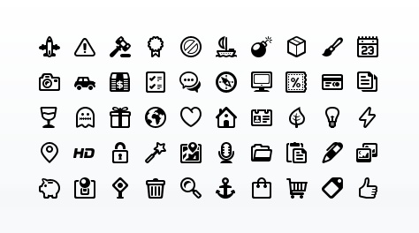 Outline Style Pictogram #icons by WebIconSet.com