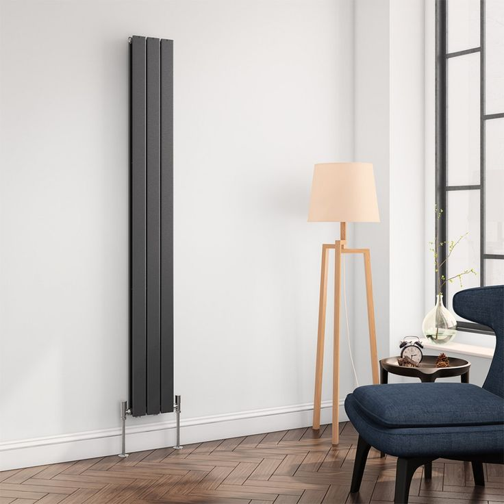 If there is one perfect way to declutter your home and keep it warm, it is with the Brenton Flat Vertical Panel Designer Radiator - specifically the one with anthracite finish. #anthraciteradiators