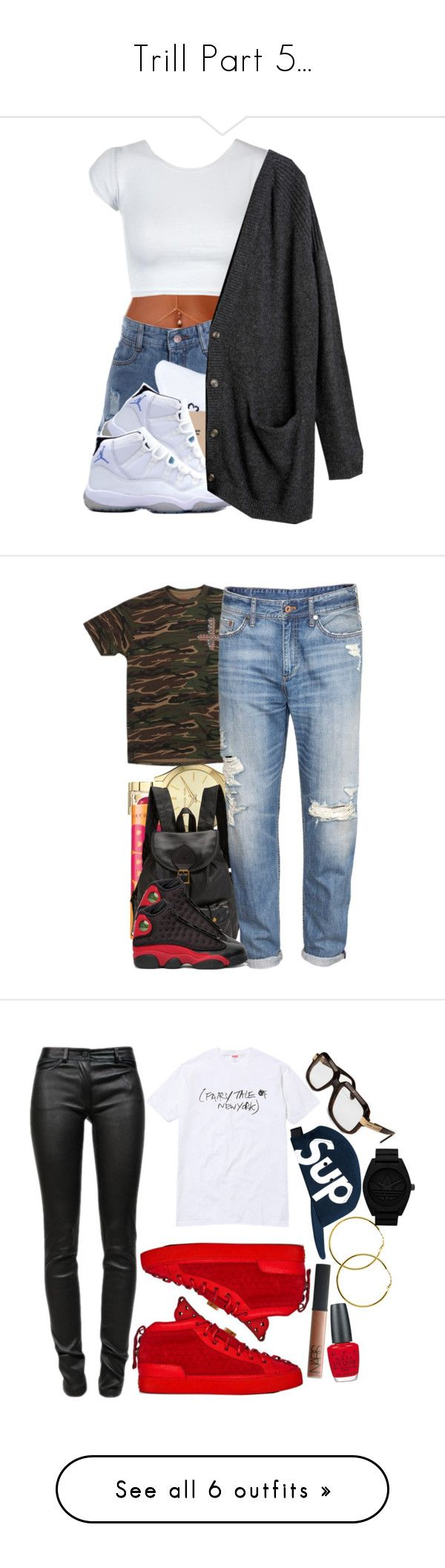 """""""Trill Part 5..."""" by slickpoet ❤ liked on Polyvore featuring HUF, Columbia, Monki, Michael Kors, Jas M.B., H&M, NIKE, Cazal, T By Alexander Wang and Melissa Odabash"""