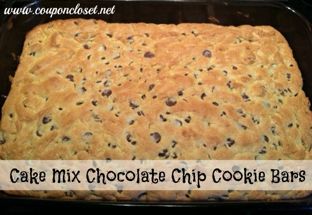 Recipe Chocolate Chip Cookie Bars Cake Mix