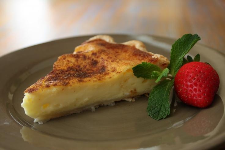 A popular South African dessert ... Milk Tart. Mmm!