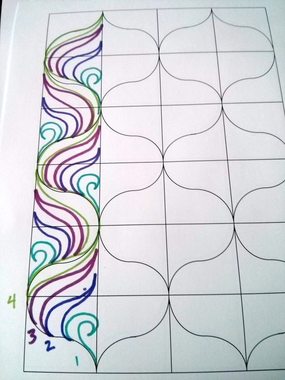I started at the bottom and worked my way to the top. The next column will be to the right. #Zentangle #Zentangle Tutorial