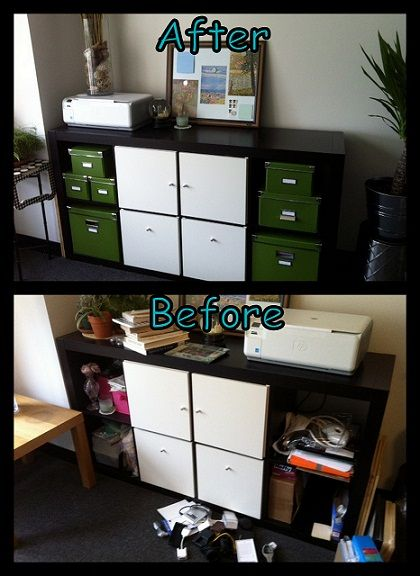 246 best images about clutter busters on pinterest for Studio apartment office