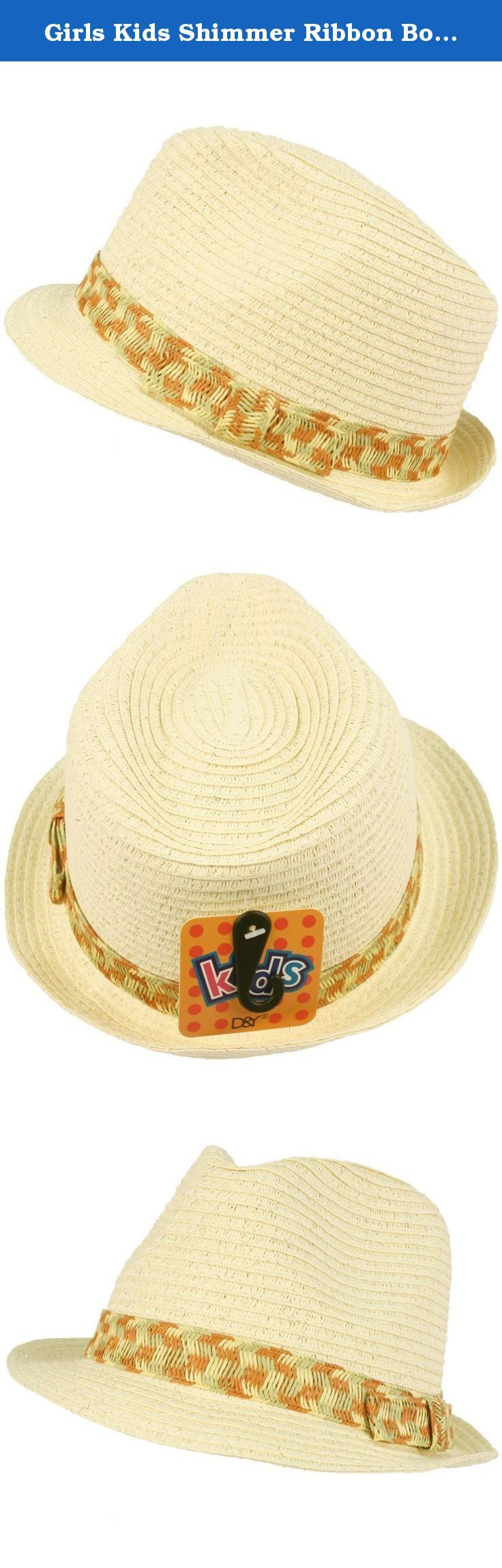 Girls Kids Shimmer Ribbon Bow Ages 4-9 Child Summer Sun Fedora Trilby Hat Ivory. New Kids Girls Child Hint of Shimmer Lurex Silver Threading Summer Spring Crushable Fedora Trilby Hat Cap with multi-color ribbon hatband. Crushable Fedora, will pop to shape. Perfect for hot weather to keep harmful sun and UV rays out of your face. Or even a formal affair like weddings, Kentucky derby, how about a picnic, a costume for a play, a day at the park, the beach or just looking stylish. Your kids…
