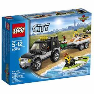 Fry's Lego City SUV with Watercraft Lego 60058 219 pcs 13.99$
