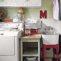 I Love The Red Stand On The Utility Sink. I So Want A Utility Sink.