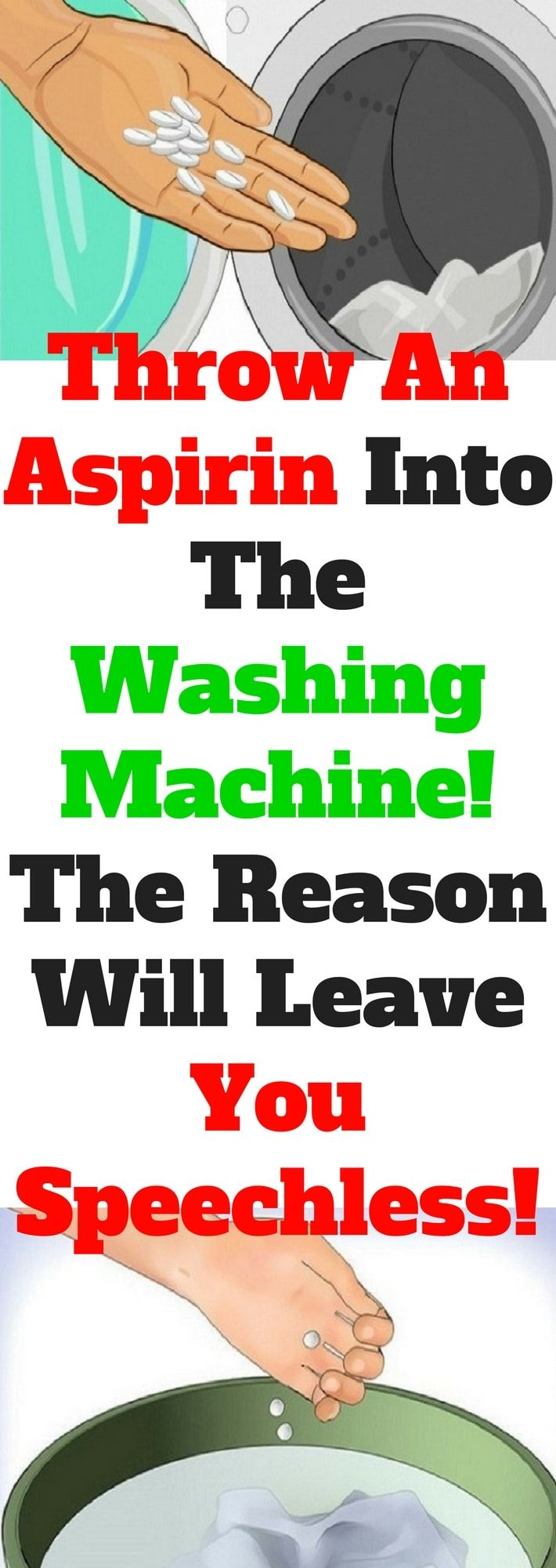 Throw An Aspirin Into The Washing Machine! The Reason Will Leave You Speechless! (Need to know)